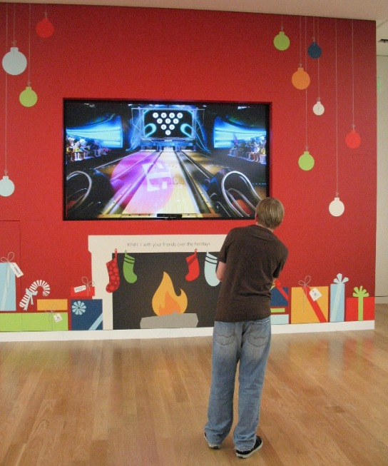 Bowling in the digital age with Microsoft X-Box 360 Kinetic at Microsoft Store
